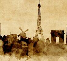 Paris France Skyline Sticker