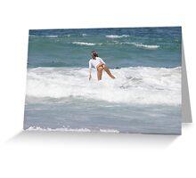 Surfer Girl 8 Greeting Card