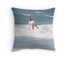 Surfer Girl 8 Throw Pillow