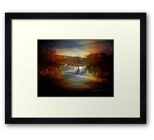 Neversink River and the Sun Dog Framed Print