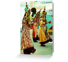 Dancers, India Greeting Card