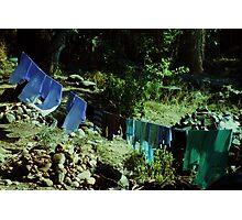 Clothesline, India Photographic Print