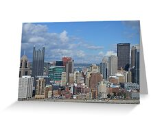 City of PittsBurgh  From Above Greeting Card