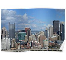 City of PittsBurgh  From Above Poster