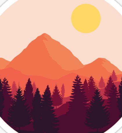 Forest Mountain Horizon Sticker