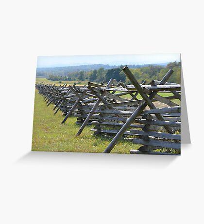 Gettysburg Civil war Site Greeting Card