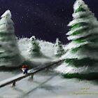 Tomte & Friends Winter Night by vikingsbooksetc