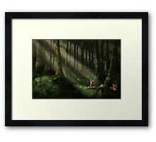 Tomte & Friends Vitsippor Framed Print