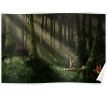 Tomte & Friends Vitsippor Poster