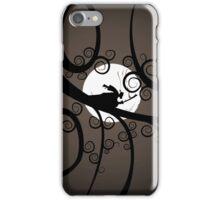 Samurai at Night (brown) iPhone Case/Skin