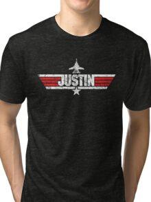 Custom Top Gun Style Style - Justin Tri-blend T-Shirt