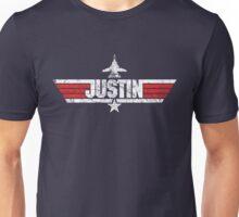 Custom Top Gun Style Style - Justin Unisex T-Shirt