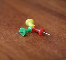 push pins by Jerry Alcantara