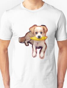 Puppy with Leaf T-Shirt