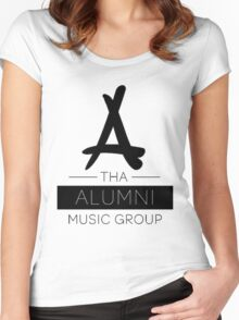 Tha Alumni Music Group Logo (FIXED) Women's Fitted Scoop T-Shirt