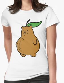 Pear Bear Womens Fitted T-Shirt