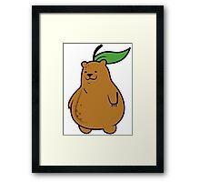 Pear Bear Framed Print