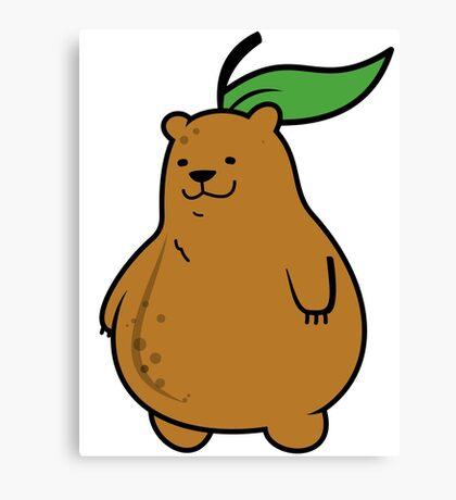 Pear Bear Canvas Print
