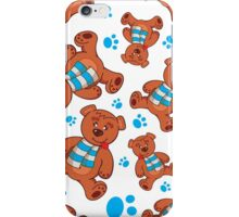 teddy bear pattern iPhone Case/Skin