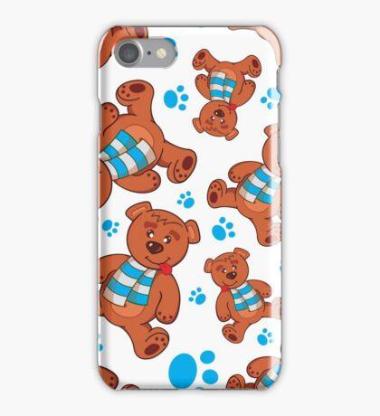 teddy bear pattern iPhone Case/Skin