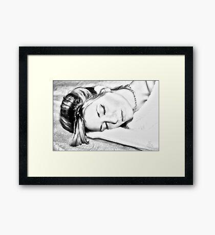 """Sketching Nina"" Framed Print"