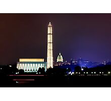 Washington by Night Photographic Print