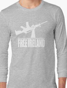Free Ireland (Vintage Distressed Design) Long Sleeve T-Shirt