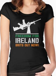 Freedom for Ireland (Vintage Distressed) Women's Fitted Scoop T-Shirt