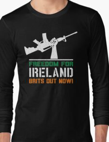 Freedom for Ireland (Vintage Distressed) Long Sleeve T-Shirt