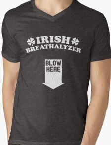 Funny Irish Breathalyzer (Vintage Distressed) Mens V-Neck T-Shirt