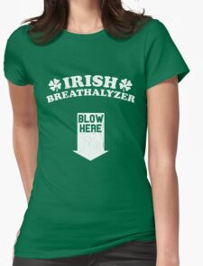 Funny Irish Breathalyzer (Vintage Distressed) Womens Fitted T-Shirt