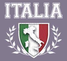 ITALIA - Classic Itlay Flag Crest (Vintage Distressed Design) Kids Tee