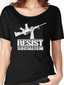 Resist Socialism (Vintage Distressed Design) Women's Relaxed Fit T-Shirt