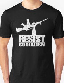 Resist Socialism (Vintage Distressed Design) Unisex T-Shirt