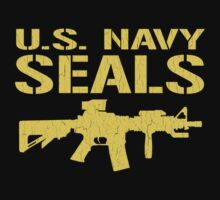 US Navy Seals with M4 Carbine (Distressed Design) by robotface