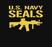 US Navy Seals with M4 Carbine (Distressed Design) Unisex T-Shirt
