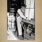 Cabinet Card: 19th Century Cabinet Maker (With Background) by toolemera