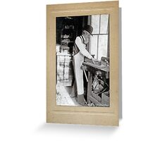 Cabinet Card: 19th Century Cabinet Maker (With Background) Greeting Card