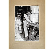 Cabinet Card: 19th Century Cabinet Maker (With Background) Photographic Print