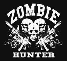 Zombie Hunter (Vintage Distressed Design) by robotface