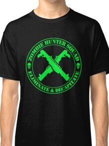 Zombie Hunting Squad (Distressed Design) Classic T-Shirt