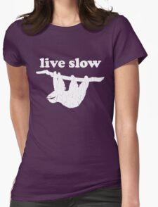 Cute Sloth - Live Slow (Vintage Distressed Design) T-Shirt
