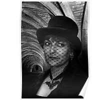 Lady Vampire at Fountains Abbey Poster