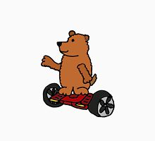 Funny Cool Brown Bear on Hoverboard Motorized Skateboard T-Shirt
