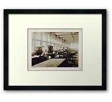 Cabinet Card: Hood & Hadley Pattern Shop - 1903 Framed Print