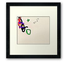 Todays art lesson on perfect skillful alignment. Framed Print