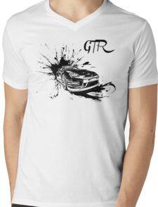 Black Nissan GTR  Mens V-Neck T-Shirt