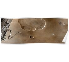 Olympus Mons From Orbit Poster