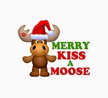 Cute Merry Kiss A Moose Christmas Unisex T-Shirt