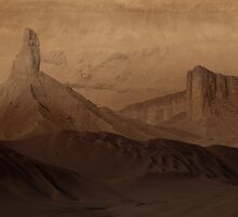 Down in Noctis Labyrinthus by Ludovic Celle